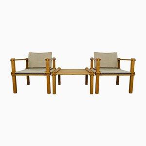Fauteuils et Table Safari par Gerd Lange pour Bofinger, 1965