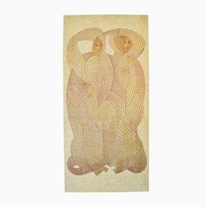 Divisorio o accessorio da parete The Veil Virgins di Jack Denst, 1976