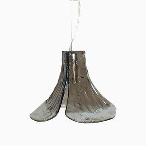 Lámpara colgante de cristal ahumado de Carlo Nason para Mazzega, años 70