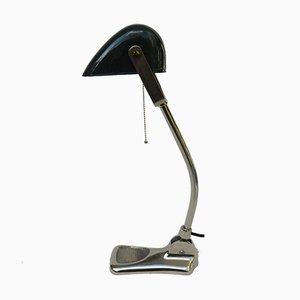 Lampe de Banquier Antique Art Nouveau Chomé de Lux