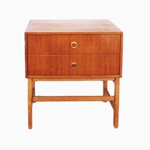 Table de Chevet Vintage en Teck, 1960s