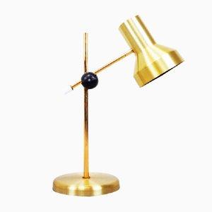 Goldfarbene verstellbare Metall Schreibtischlampe, 1970er