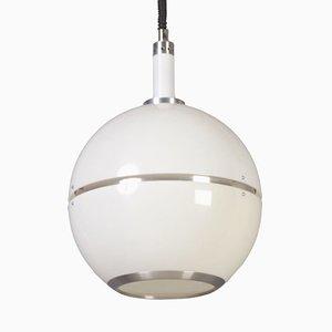 Lámpara colgante era espacial en blanco, años 70