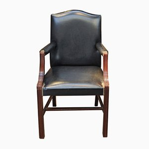 Leather & Beech Armchair from De Coene, 1960s