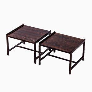 Tavolini in palissandro di Ingemar Relling per Brödrene Blindheim, anni '60, set di 2