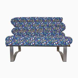 Sofá de metal y fibra de vidrio, años 60