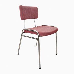 Vintage Chrom Stuhl mit Tweed Bezug in Rosa