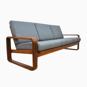 3-Seater Solid Teak Sofa, 1970s