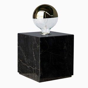 Lampada Galilei in marmo Portoro di Tiziana Vittoni Pairazzi per Paira