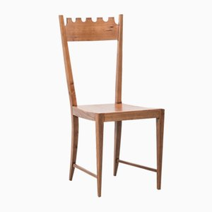 Stuhl mit wellenförmiger Rückenlehne, 1950er