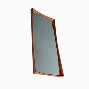 Espejo danés con marco de teca, años 60