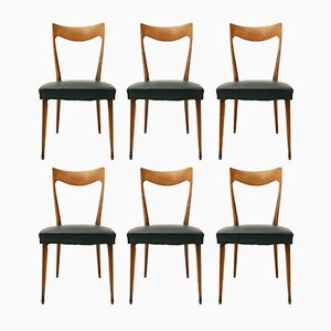 Italian Curved Back Dining Chairs from Cassina, 1950s, Set of 6