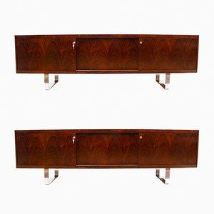 Palisander Sideboards von Jorgen Pedersen für E Pedersen, 1960er, 2er Set