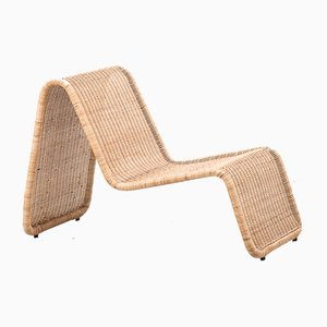 P3 Rattan Lounge Chair by Tito Agnoli for Pierantonio Bonacina, 1960s