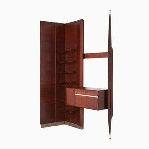 Mueble de pared italiano de palisandro, años 50