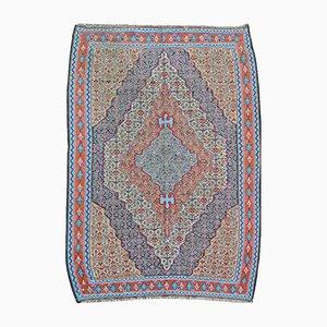 Vintage Persian Silk Senneh Kilim