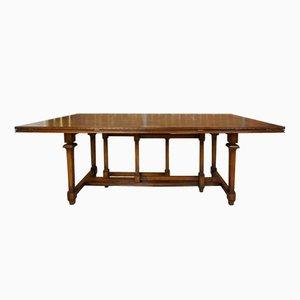 Mesa de comedor vintage de madera, años 40