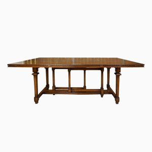 Vintage Wooden Marquetry Modular Dining Table