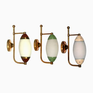 Mid-Century Wall Lamps, 1950s, Set of 3