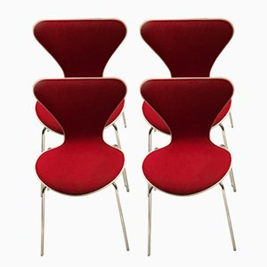 Mid-Century Series 7 Chairs by Arne Jacobsen for Fritz Hansen, Set of 4