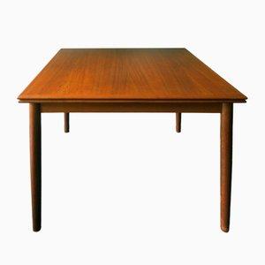 Tavolo da pranzo allungabile in teak, anni '60