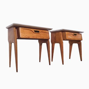 Mid-Century Italian Maple Nightstands from La Permanente Mobili Cantù, 1950s, Set of 2