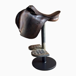 Industrial Horse Saddle Bar Stool, 1970s
