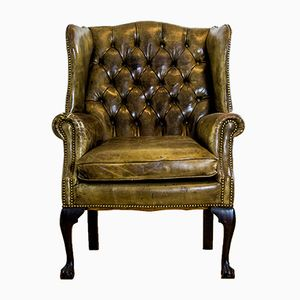 Mid-Century Chesterfield Wingchair