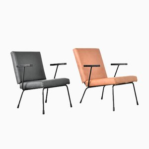 Lounge Chairs by Wim Rietveld & A. R. Cordemeyer for Gispen, 1950s, Set of 2