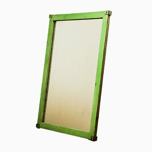 Vintage Industrial Green Mirror