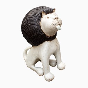 Keramik Löwe von Bruno Gambone, 1970er