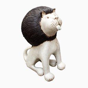 Leone in ceramica di Bruno Gambone, anni '70