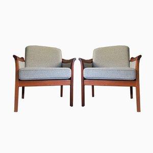 Dänische Mid-Century Sessel aus Teak & Wolle, 1960er, 2er Set