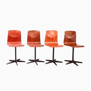 Chaise d'Appoint de Galvanitas, 1960s, Set de 4