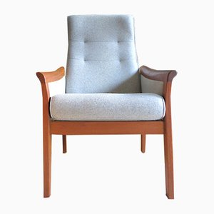 Danish Teak & Wool Lounge Chair, 1960s