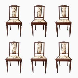 Jugendstil Französische Chairs, 1920er, 6er Set