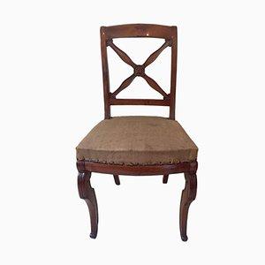 Antike Französische Empire Chairs aus Nussholz, 1820er, 5er Set