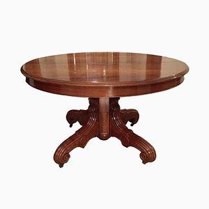 Tavolo da pranzo in legno di noce, Francia, metà XIX secolo