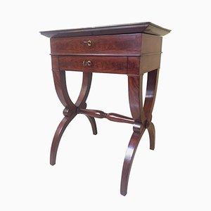 Französischer Mahagoni Werktisch, 1830er