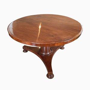 Tavolo antico in mogano con ripiano pieghevole, Francia, metà XIX secolo