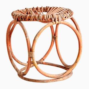 Puf de ratán de Pierantonio Bonacina, años 50