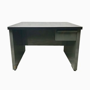 Vintage Industrial Metal Desk with Drawer, 1970s