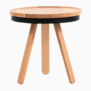 Tavolino con vassoio Batea nero e in legno di quercia di Daniel García Sánchez per WOODENDOT