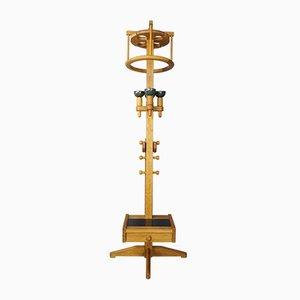 Lámpara de pie Grisette de roble de Guillerme et Chambron para Votre Maison, años 50