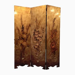 Vintage Art Nouveau Style French Screen, 1950s
