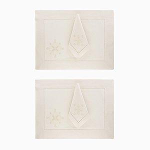 Manteles individuales y servilletas Darlington de The NapKing para Bellavia Ricami SPA. Juego de 2
