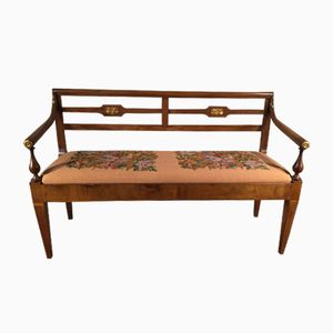 Italian 19th-Century Walnut Sofa