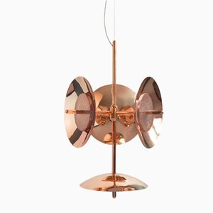 Lámpara de araña Signal 3S+1 de cobre de Shaun Kasperbauer para Souda