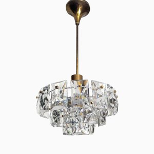 Crystal Glass Prism Chandelier from Kinkeldey, 1960s