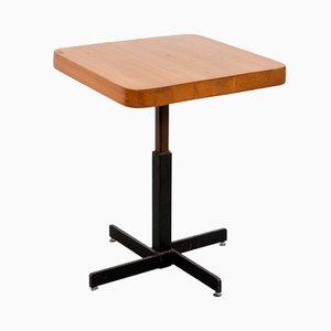 Tavolo quadrato Les Arcs vintage regolabile di Charlotte Perriand